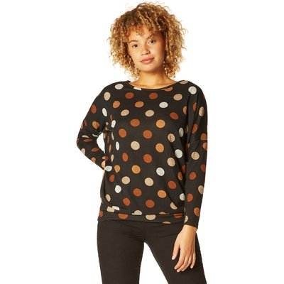 Spot Print Long Sleeve Top