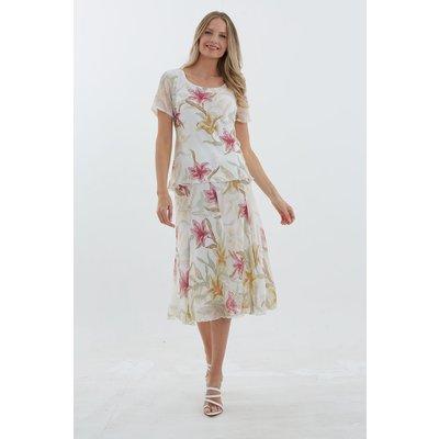 Julianna Lily Chiffon Panel Skirt