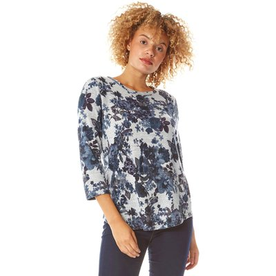 Floral Print Jersey Top