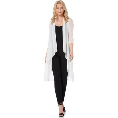 Mesh Longline Kimono Jacket