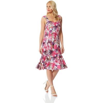 Tropical Floral Panel Dress
