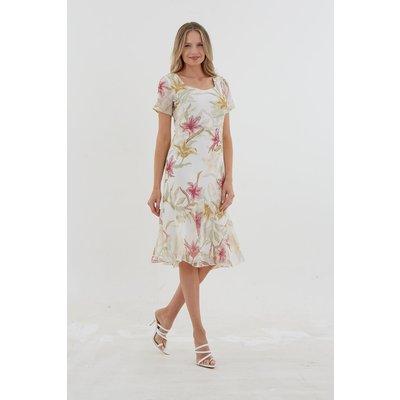 Julianna Lily Print Chiffon Dress