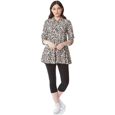 Leopard Print Tunic Blouse