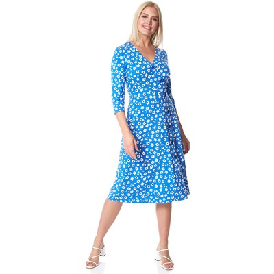 Floral Print Midi Length Tea Dress