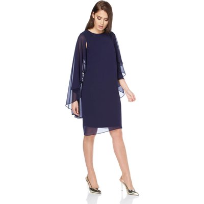 Chiffon Cape Sleeve Dress