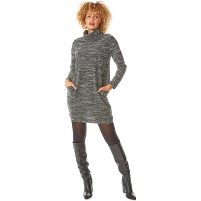 Long Sleeve Cowl Neck Tunic Dress