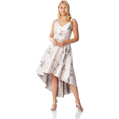 Jacquard Rose Gown Dress