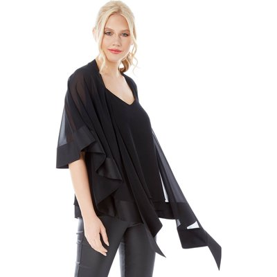 Satin Trim Chiffon Cover Up