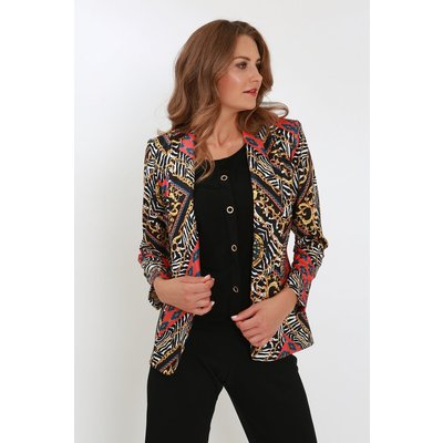 Julianna Mixed Print Jacket