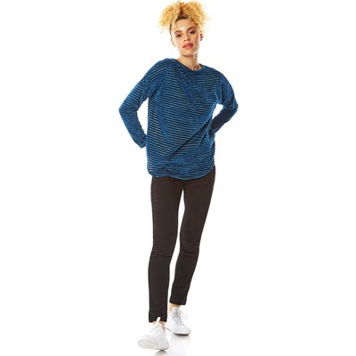 Chenille Stripe Long Sleeve Top
