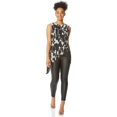Animal Print Sleeveless Tunic Top