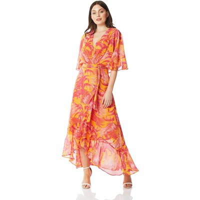 Chiffon Wrap Maxi Dress