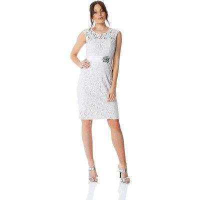 Lace Embellished Trim Dress