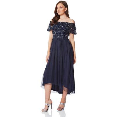 Bardot Sequin Midi Dress