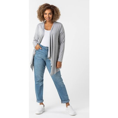 Curve Waterfall Front Jersey Cardigan