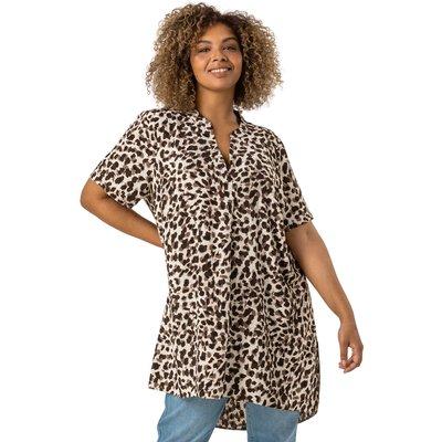 Curve Animal Print Tunic Top