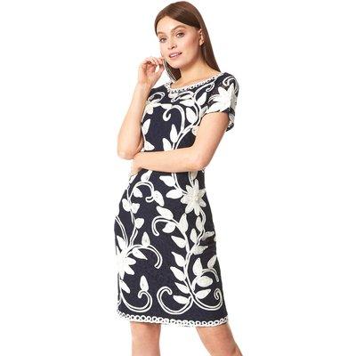Floral Contrast Tapework Dress