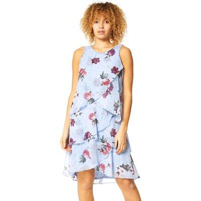 Floral Spot Chiffon Layer Dress