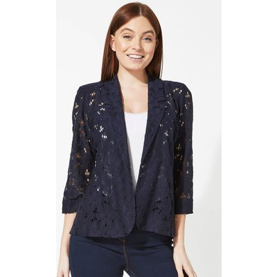 Floral Lace 3/4 Sleeve Jacket