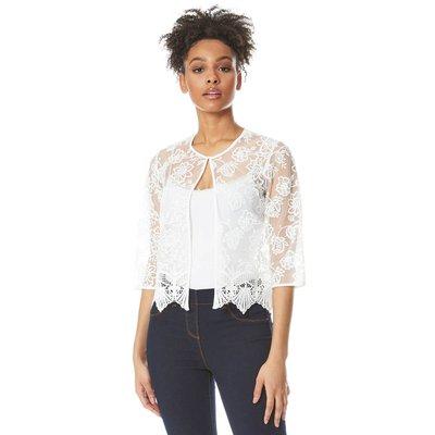 Short Floral Embroidered Jacket