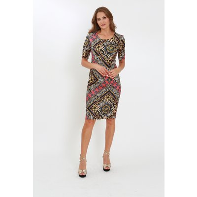 Julianna Mixed Print Knee Length Shift Dress
