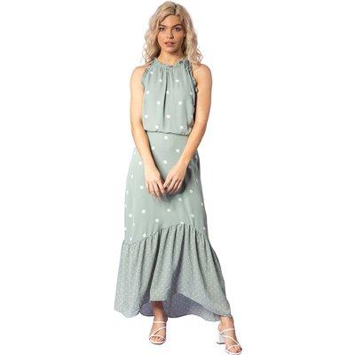 Tiered Multi Spot Print Dress