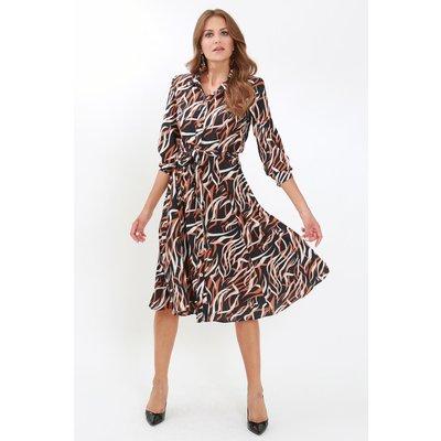 Julianna Button Through Fit & Flare Shirt Dress
