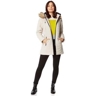 Faux Fur Trim Padded Coat