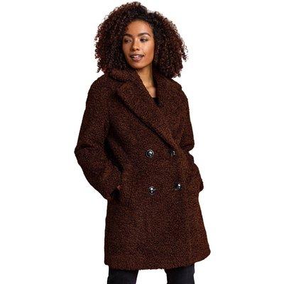 Faux Fur Longline Teddy Coat