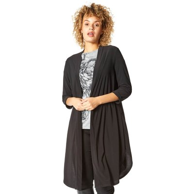Longline Jersey Kimono Jacket