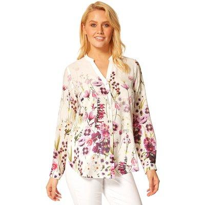 Button Through Floral Print Blouse