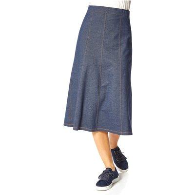 A-Line Stretch Midi Skirt