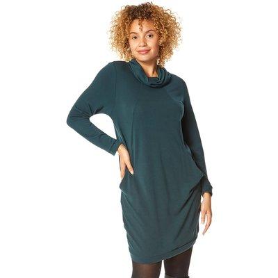 Long Sleeve Cowl Neck Tunic Dress