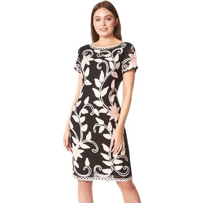 Floral Contrast Tapework Dress
