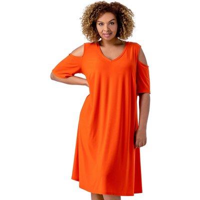 Curve Cold Shoulder Jersey Dress