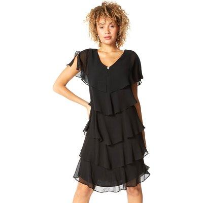 Tiered Chiffon Frill Dress