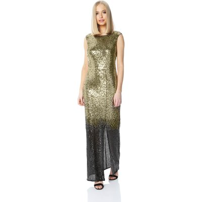 Ombre Sequin Maxi Dress