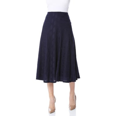 Textured A Line Midi Skirt