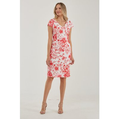 Julianna Floral Print V-Neck Dress