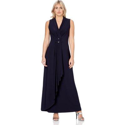 V-Neckline Jersey Maxi Dress