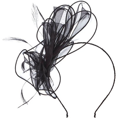 Loop and Feather Organza Fascinator