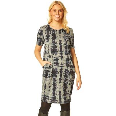 Tie Dye Jersey Pocket Dress