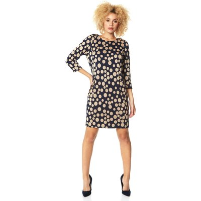 Spot Print Pocket Tunic Dress