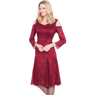 Glitz Lace Cold Shoulder Dress