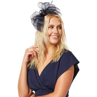 Bow and Feather Band Fascinator