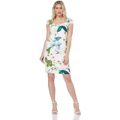Sweetheart Floral Print Dress