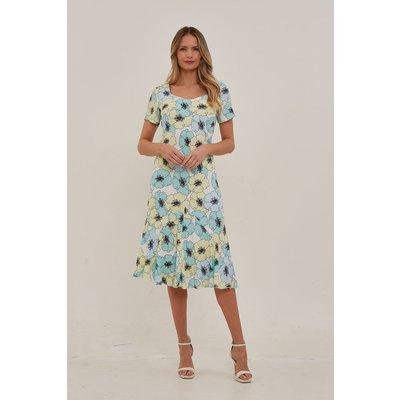 Julianna Pansy Floral Chiffon Dress