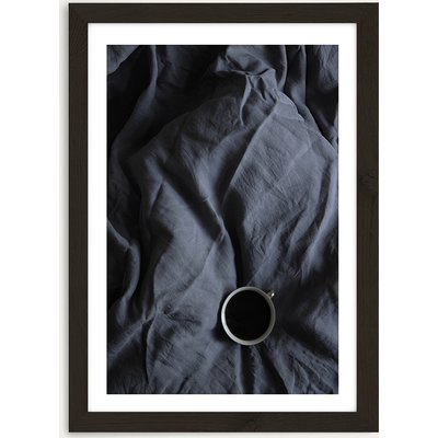 Coffee Time in Bed – Me and You Art Print Black Frame
