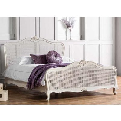 Frank Hudson Living Chic Vanilla with Cane Detailing Bed Frame