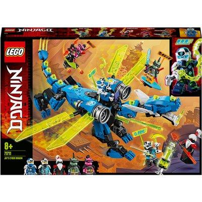 LEGO NINJAGO: Jay's Cyber Dragon Mech Toy Action Figure (71711)